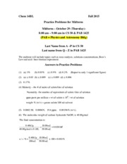 MH 14BL  MT Answers practice problems F15