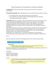 Systematics_Introduction to Systematics_Worksheet_