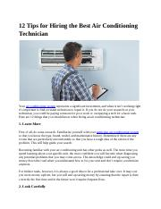 12 Tips for Hiring the Best Air Conditioning Technician.docx