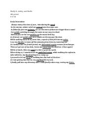 A&P - Poem body part(s) projection. .docx
