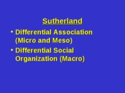 12 - Differential Social Organization and Association Theory
