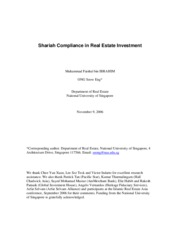 Shariah Compliance in Real Estate Investment