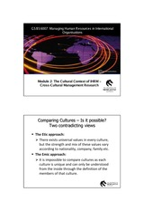 The Cultural Context of IHRM- Cross-Cultural management Research_2