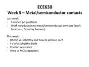 Lecture 5 metal-sc contacts