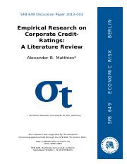 literature review on corproate credit rating