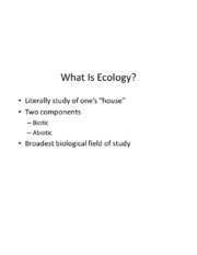 Environmental Science -- How Ecosystems Work