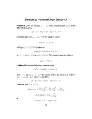 Homework 5 on Differential Equations