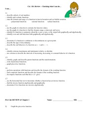 Worksheet Chapter 1 Review