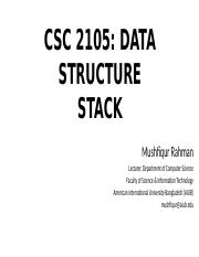 Lecture 06 - Stack.pptx
