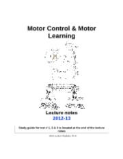 PED 1323 Motor Control & Motor Learning