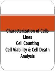 7-Counting, Cell Viability and Cell Death Analysis and Characterization of Animal Cells