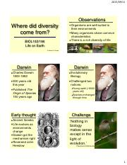 07 Where did diversity come from