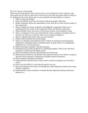 PSY 101 S Exam 3 Study guide