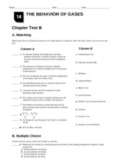 Printables Behavior Of Gases Worksheet chemistry ch 14a name date class the behavior of gases chapter other related materials