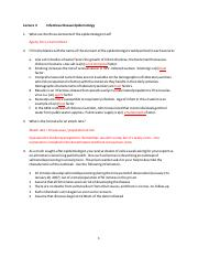 In Class Exercises - Lecture 3 - Infectious Disease Epidemiology - ANSWERS.pdf