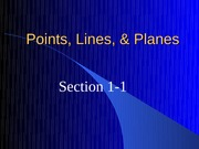 1-1 Points, Lines, and Planes