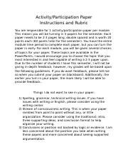 Instructions and rubric for activity paper(s).docx