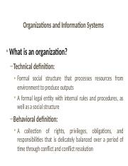 Information Systems part 2