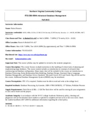 ITD256 Syllabus Fall 2015