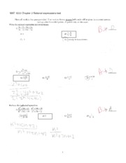 MAT1033 Chapter 3 test