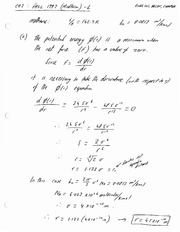 ENGG 201 (Fall 2013) - Solutions to Some Chapter 3 Supplementary Problems - Dr. Sen