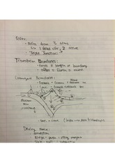 EASC 210  Fall 2014 Transform Boundaries Lecture Notes