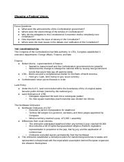 """chapter 6 shaping a federal union Tentative course schedule fall 2016 08/22 introduction to course, expectations, and texts last day to add a class  america, chapter 6: """"shaping a federal union"""" america, appendix: article of confederation and perpetual union (a66-a73) the constitution of the american (a74-a85."""