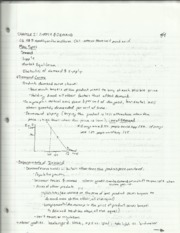 Microeconomic Theory Chapter 2 Supply and Demand Notes