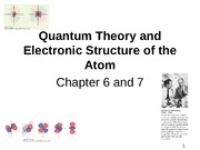 8. Quantum Theory Chapters 6 and 7 2013-posted