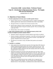 03 Intro to Macro Theory - The Supply Side and the Demand Side