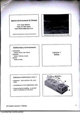 Marine Environment and Climates - Delta Lecture Notes