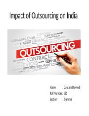Impact of Outsourcing on Indian Economy