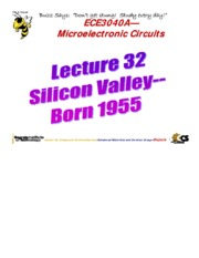 Lecture 32 - Silicon Valley