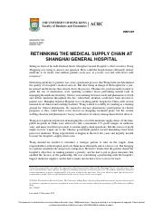 RETHINKING THE MEDICAL SUPPLY CHAIN AT SHANGHAI GENERAL HOSPITAL.pdf