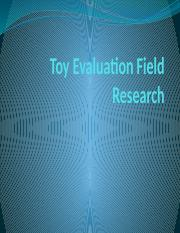 Toy Evaluation Field Research.pptx