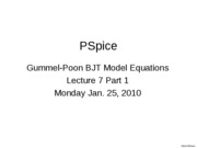 L7Part1_PSpice Gummel-Poon Model of BJT L6_1