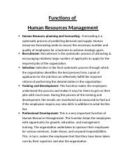 Functions Of HRM for HRM.docx
