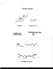 Cover sheet of compounds