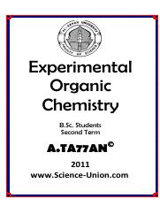 Experimnental_Organic_Chemistry_B.Sc_2nd_term