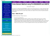 09. Finite Element Method using Pro ENGINEER and ANSYS