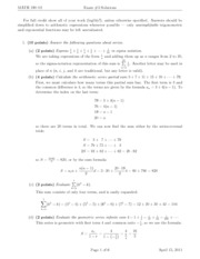 Midterm 3 Solution