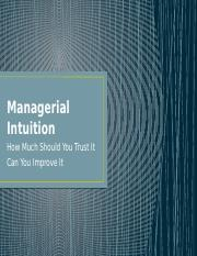 Session 14 - Managerial Intuition.pptx