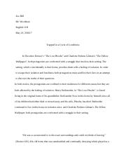Two Short Stories Essay