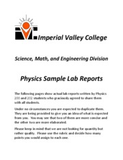 Sample Lab Reports 2010