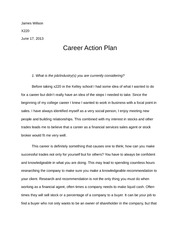 kelley school of business na university napolis bachelor  6 pages career action plan essay