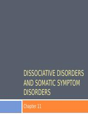 Chapter 11 Dissociative Disorders and Somatic Symptom Disorders