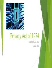 Privacy Act of 1974 23feb15