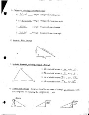 Triangle Sum And Exterior Angle Theorem Worksheet With Key X M