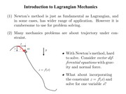 Intro to Lagrangian Mechanics
