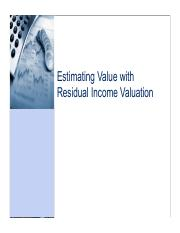 CNC7_Residual income valuation